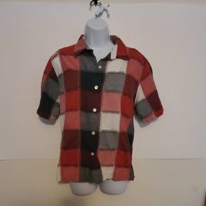 Angelique Checked Button Down Size large
